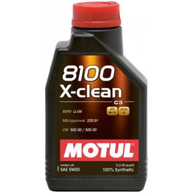 Моторное масло Motul 8100 X-clean 5W-30 1л