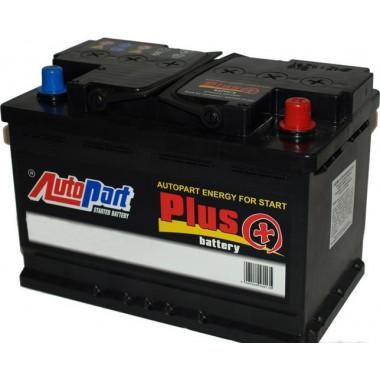 Автомобильный аккумулятор AutoPart Plus 77Ah 750A (R+) 276x175x175 mm