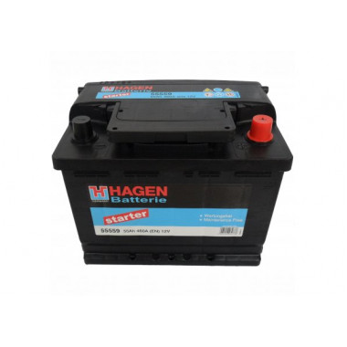 Автомобильный аккумулятор Hagen 55559 (55 А/ч)