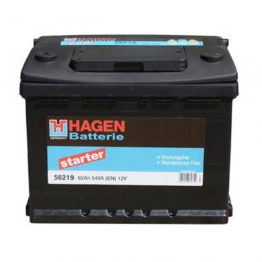 Автомобильный аккумулятор Hagen 56219 (62 А/ч)