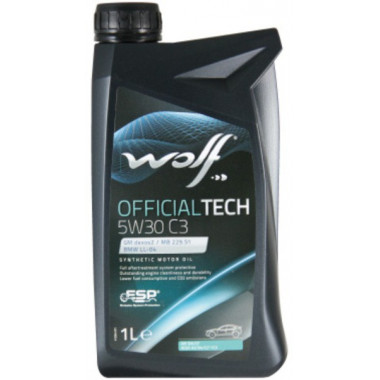 Моторное масло Wolf Official Tech 5W-30 C3 1л