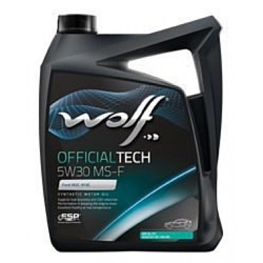 Моторное масло Wolf Official Tech 5W-30 MS-F 5л